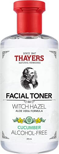 THAYERS Alcohol-Free Cucumber Witch Hazel Facial Toner with Aloe Vera Formula, 355ml, 1 count