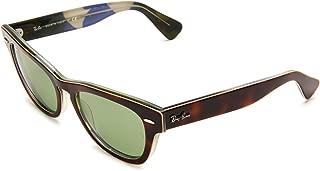 Women's RB4169 Laramie Square Sunglasses, Havana On Texture/Green, 53 mm