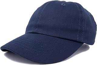 DALIX قبعة بيسبول أبي قبعة سادة للرجال النساء القطن قابل للتعديل فارغة غير منظمة لينة