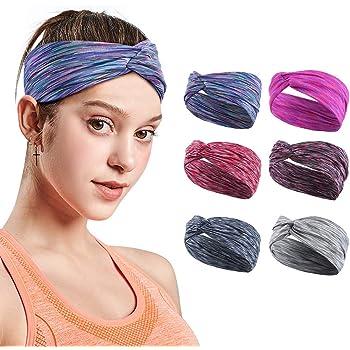 VBIGER Stirnband Damen Haarband Kopfband Turban Elastische Sportliche Headband für Joggen Yoga Gym Fitness Training