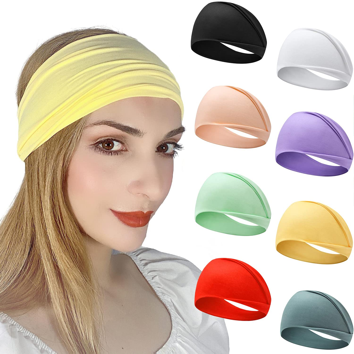 Headbands for Womens Wide Elastic Accessories Girls Yoga Wo Hair Japan's largest assortment Manufacturer OFFicial shop