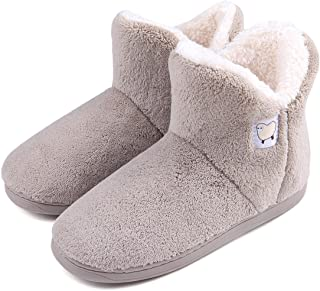 Women Warm Plush Slipper Boots Cozy Wool Indoor Outdoor Home Shoes