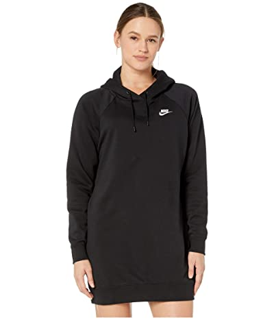 Nike NSW Essential Fleece Dress (Black/White) Women
