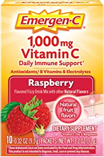 Emergen-C 1000mg Vitamin C Powder, with Antioxidants, B Vitamins and Electrolytes, Immunity Supplements for Immune Support...