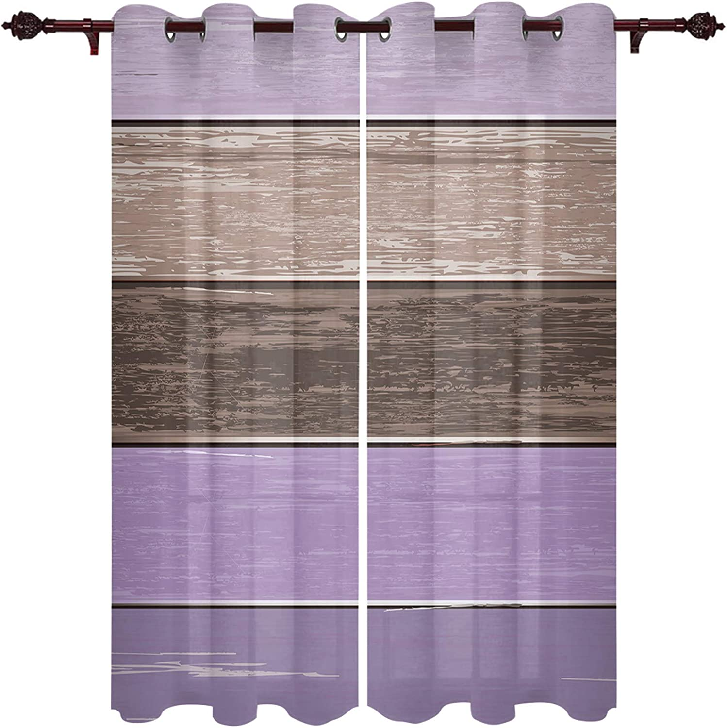 wanxinfu Purple Barn Wood Limited price sale Board Brown Piece Wind Ombre 2 Genuine Free Shipping Stripes