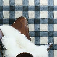 RoomMates Blue Buffalo Plaid Peel and Stick Wallpaper