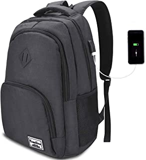 Laptop Backpack,School Backpack,Water Repellent Computer Bookbag with USB Charging Port for College Business Travel