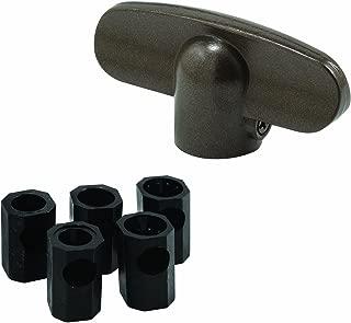 Prime-Line Products H 3893 Window Tee Crank Casement Handles, Satin Bronze (2-Pack)