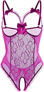 Cocobla Erotic Womens Sexy Lingerie Sleepwear Mesh Underwear Lace Night Dress Lingerie Negligee
