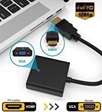 Storite 1080p Hdmi Male To Vga Female Video Converter Adapter Cable Chipset Power For Pc Dvd Hdtv Tv Connectting Device Supporting A Maximum Resolution Brand New