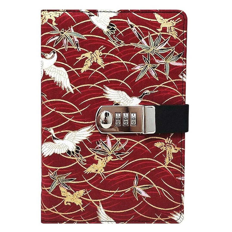 ノート ロックダイアリー付きクリエイティブノートブックパスワードブックインストールされたジャーナルビジネスブックスクールA5プランナーオーガナイザーオフィス メモ帳 ノート (Color : Red)