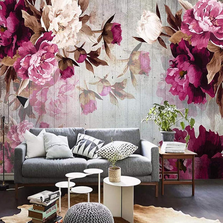 ドラゴンピアノ投資する山笑の美 3d壁画カスタムロマンチックな花写真壁紙寝室リビングルームテレビ背景装飾絵画-400X280CM