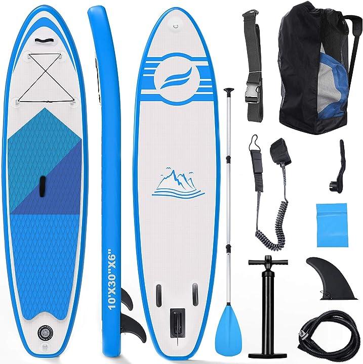 Tavola sup gonfiabile tavola surf paddle board 300x76x15cm carico di 150 kg con accessori fixget B07NVBT8XL