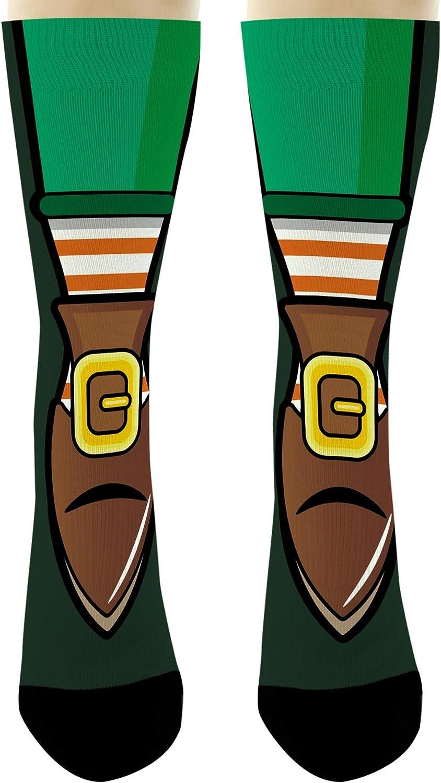 Leprechaun Leg Socks St Patrick's Day Pointy Shoe Novelty Crew S