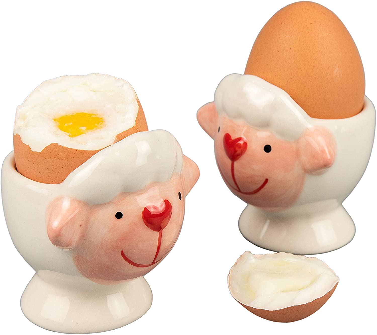 WD Gorgeous - 2 Pcs Cute Goat Shape Ceramic boiled soft or San Diego Mall h cup Hard egg