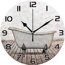 Amazon Com Small Wall Clocks For Bathroom