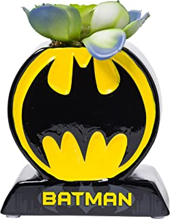 Silver Buffalo DC Comics Batman Circle Bat Logo Ceramic Planter