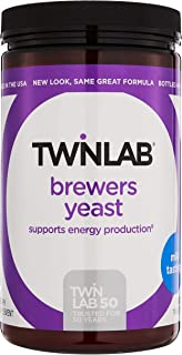 Twinlab Brewers Yeast Energy Supplements - Energy Powder For Immune Support & Nervous System Support - Men & Womens Probio...