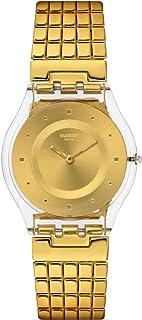 Swatch Women's SFK394GB Golden Lips S Year-Round Analog Quartz Gold Watch