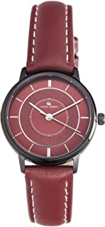 Louis Arden for Women Analog Leather Watch - LA5004L-RED-RED-BLK