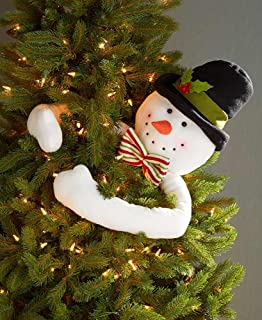 The Lakeside Collection Christmas Tree Branch Hugger Ornament - Snowman