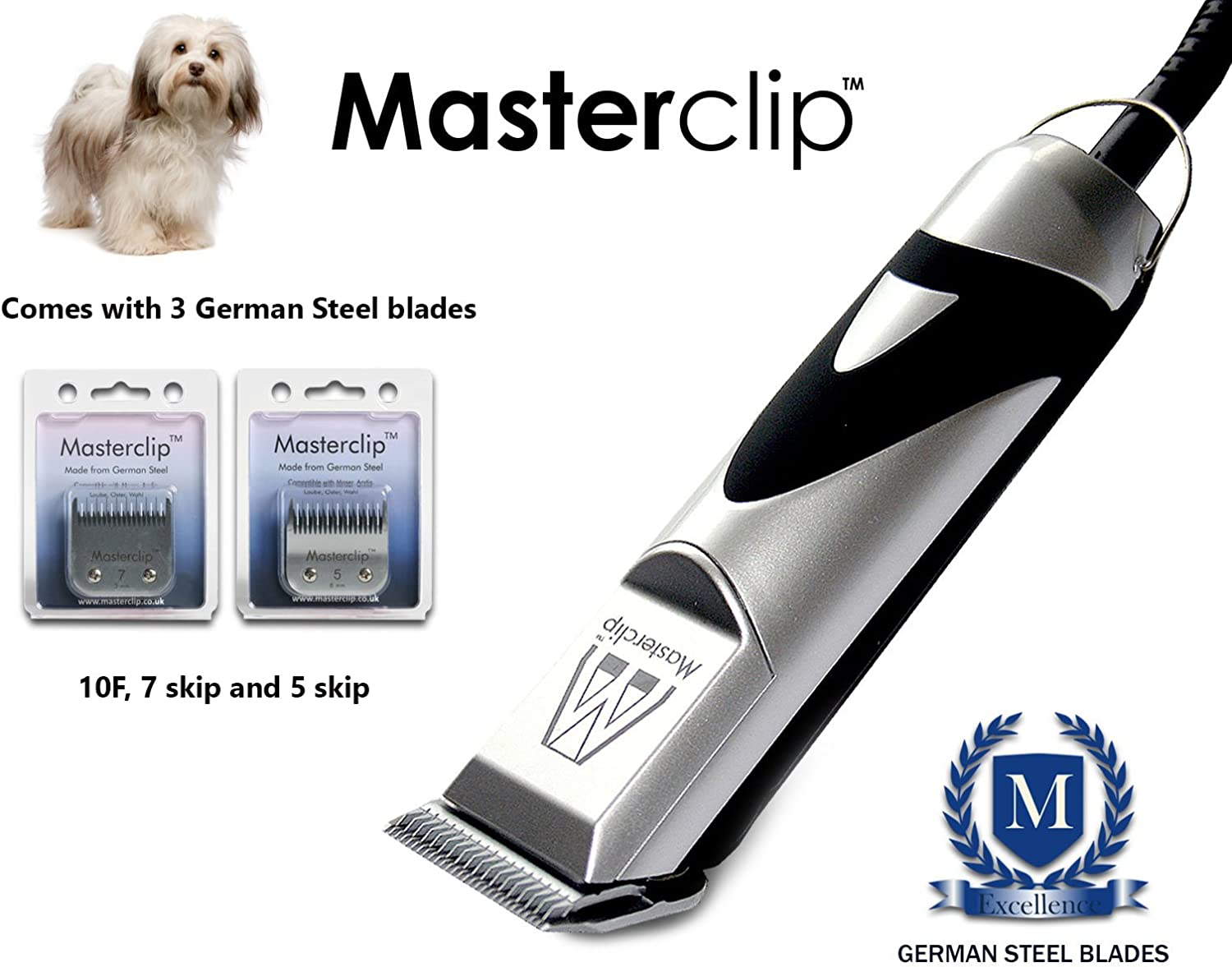 Masterclip Professional Havanese Dog Clippers Set Pet Grooming Clipper Trimmer Supplies