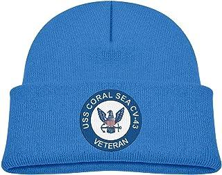ADGoods Kids Children USS Coral Sea CV-43 Veteran Beanie Hat Knitted Beanie Knit Beanie For Boys Girls Gorra de béisbol pa...