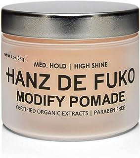 Hanz de Fukoプレミアムメンズヘアスタイリング修正Pomade:ハイシャイン仕上げの高性能ヘアスタイリング処方56g / 54.90ml