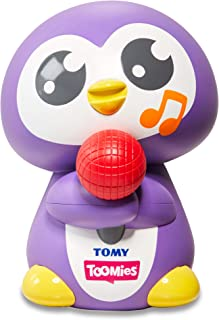 TOMY E72724 Tuneless Penguin Bath Toy,Purple