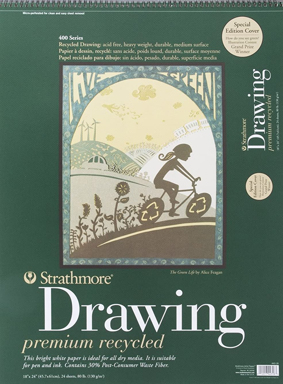 Strathmore 400 Series Recycled Drawing Pad, 18