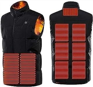 Women and Men Heated Vest, Washable USB Heated Sleeveless Jacket, 3 Adjustable Temperatures, 9 Heating Zones, Heated Jacke...
