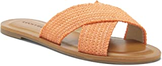 Lucky Brand Women's LORAI Flat Sandal, Fusion Coral, 9
