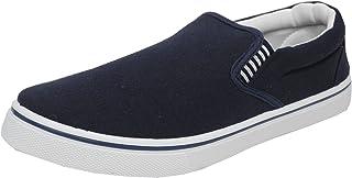 Dek Mens Boys Canvas Boat Yachting Deck Shoes Slip On Pumps Blue Size 4-13