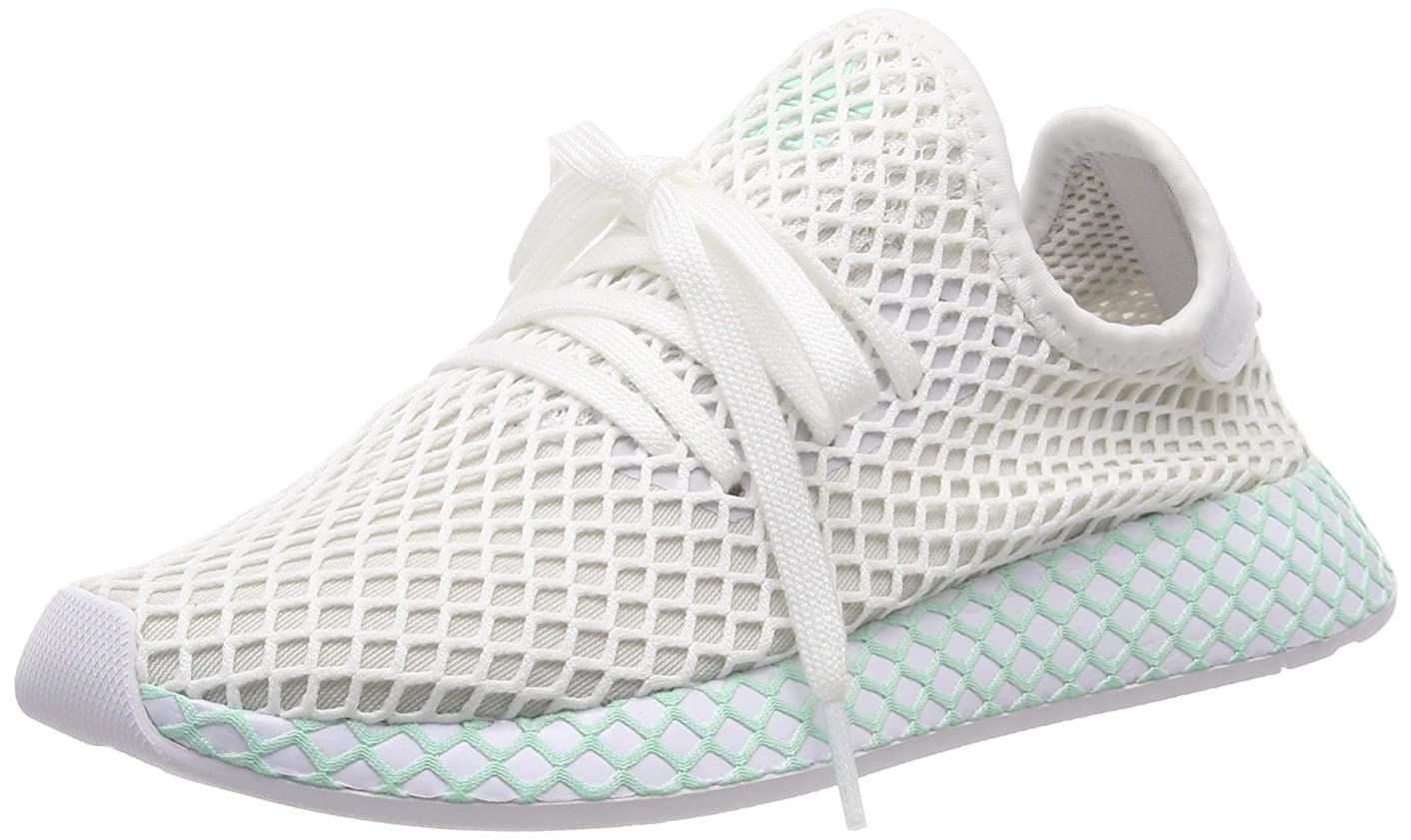 adidas Womens Deerupt Runner Mesh White Grey One Trainers 5.5 US