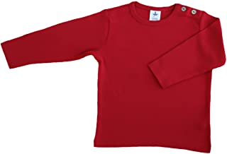 GOTS - Camiseta de manga larga para bebé (algodón orgánico, tallas 50/56 hasta 140)