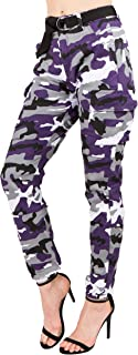 TwiinSisters Women's High Rise Slim Fit Color Jogger...