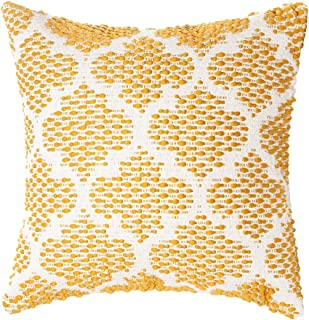 Merrycolor Woven Tufted Handmade Geometric Pillow Cover Boho Flower Lantern Decorative Throw Pillow Covers for Couch Sofa ...