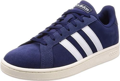 adidas Originals Gründ Court Turnschuhe Herren dunkelblau Weiß, 7 UK - 40 2 3 EU - 7.5 US