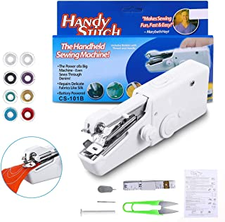 Handheld Sewing Machine, LIUMY Portable Sewing Machine, 15PCS Mini Sewing Machine, Small Sewing Machine for Quick Repairin...