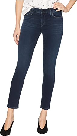 Tally Mid-Rise Crop Skinny Jeans in Down N Out