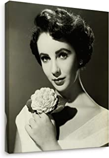Niwo Art - Elizabeth Taylor, Classic Movie Stars Canvas Wall Art Home Decor,Stretched Ready to Hang