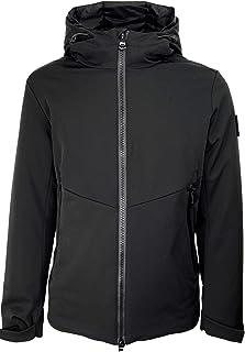 HOX Chaqueta para hombre XU3739 Technical Downcoat, de nailon, con cierre de parada, color negro