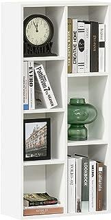 HOMCOM Estantería para Libros Librería de Madera con 7 Compartimentos de Almacenaje Plantas Archivos para Sala de Estar Do...