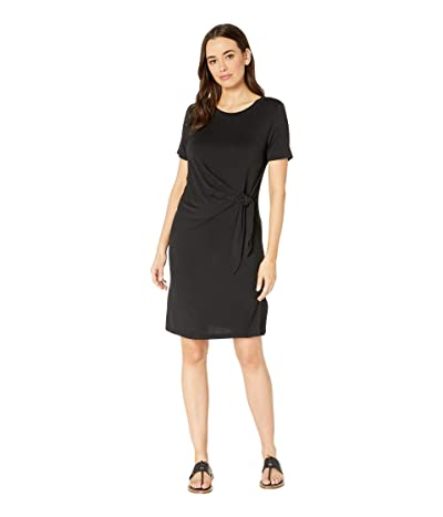 Tribal Jersey Short Sleeve Tie Dress (Black) Women