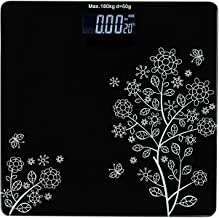 QUARK MART Electronic Thick Tempered Glass LCD Display Digital Personal Bathroom Health Body Weight Weighing Scales For Body Weight, Weight Scale Digital For Human Body(Bathroom Scale)(Black)