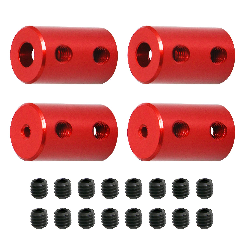 Aopin 2mm to 5mm Red Rigid Very popular Mot Set Time sale Couplings Stepper Shaft Screw
