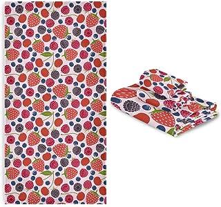 CaTaKu Lot de 3 serviettes en forme de fraise fraîche 1 serviette de bain 1 serviette de toilette 1 serviette de toilette ...
