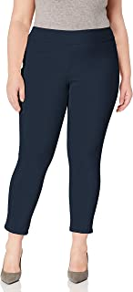 RUBY RD. womens Plus Size Pull-on Stretch Knitted Twill Pant Casual Pants