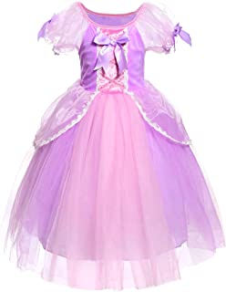 JerrisApparel Girl Princess Costume Rapunzel Role Cosplay Party Fancy Dress