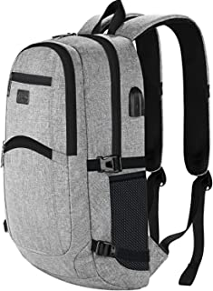 d1650f049 Anti-Theft Backpack, Business Laptop Rucksack with USB Charging Port, Slim  Lightweight School